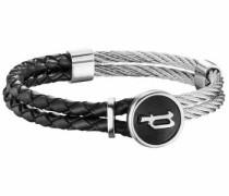Armband 'combination Pj26071Blb.01-L' schwarz / silber