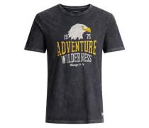 T-Shirt Lässiges gelb / schwarz / weiß