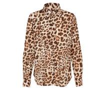 Bluse 'Leo' beige / camel / braun
