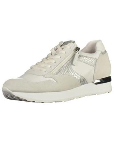 Sneaker creme / silber / weiß