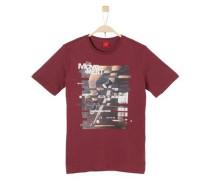 Jerseyshirt mit Skater-Print karminrot
