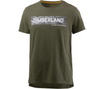 T-Shirt rauchgrau / oliv