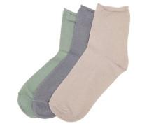Glitzer-Socken grau / grün / rosa