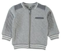 Strickjacke nitseus grau / weiß