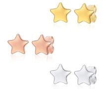 Ohrstecker 3er Set gold / rosegold / silber