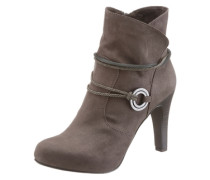 High-Heel-Stiefelette taupe