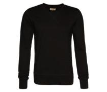 Sweatshirt im unifarbenen Design 'Sven' schwarz