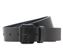 Ledergürtel mit gedunkelter Dornschließe 'Julien' schwarz