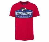 T-Shirt 'reworked Classic Tee' blau / rot