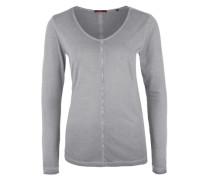 Langarmshirt in Garment Dye grau