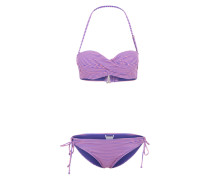 Bandeau-Bikini 'Mix Dolty' royalblau / pink