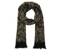 Schal 'Leopard-Skin' khaki / schwarz