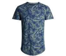 Bedrucktes T-Shirt blau / mint