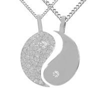 'Ying Yang' (4tlg.) - Partnerschmuck silber