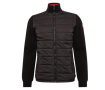 Jacke 'zip jacket with nylon front' schwarz