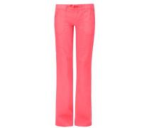Bootcut: Hose aus Leinen-Mix pink