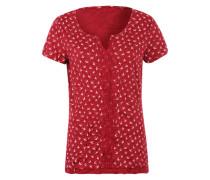 T-Shirt mit Schwalben-Print rot