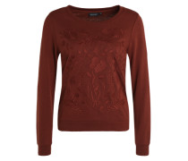 Sweatshirt 'Rivers' rostrot