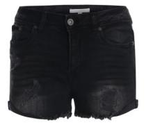 Jeansshorts im Used-Look black denim