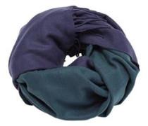 Schal 'DblFaceBlank' blau / grün