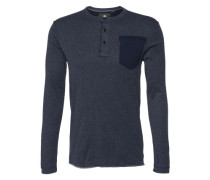 Shirt 'Classic granddad pocket r' blau