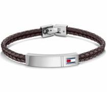 Armband 'Casual Core 2701009' dunkelbraun / silber