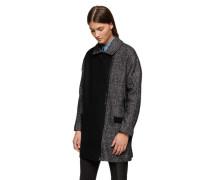 Calvin Klein Jeans Melierter Wollmantel 'Adira' schwarz / grau