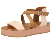 Sandalen braun / pastellpink