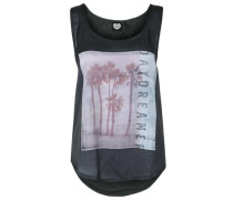 Tanktop Faded Palms anthrazit