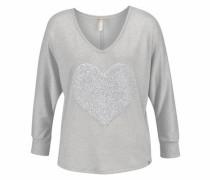 V-Ausschnitt-Pullover 'Charlotte' graumeliert