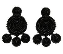 Große Perlen Ohrringe schwarz