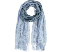Polyester-Schal hellblau