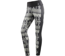 'plasma' Leggings Damen schwarz / weiß