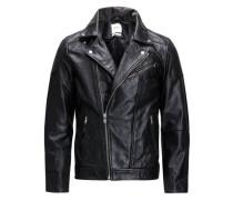 Rockerleder-Jacke schwarz