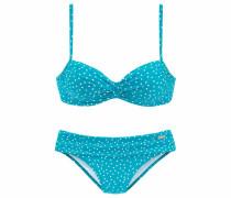 Bügel-Bikini neonblau / weiß