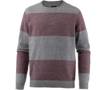 'channels Crew' Sweatshirt Herren grau / rot
