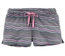 Gemusterte Shorts 'Josi' türkis / basaltgrau / pink