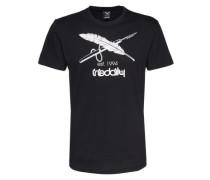 Print Shirt schwarz
