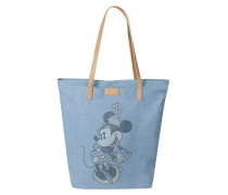 Denim-Shopper mit Disney-Motiv hellblau