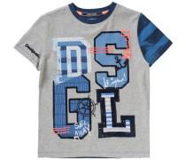 Baby Shirt für Jungen dunkelblau / grau / graumeliert