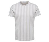 Gestreiftes T-Shirt greige / weiß