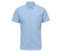 Slim Fit-Kurzarmhemd hellblau