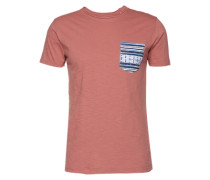 T-Shirt 'Print Tee pocketprint S/s' rot