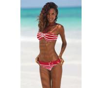 Bandeau-Bikini rot / weiß