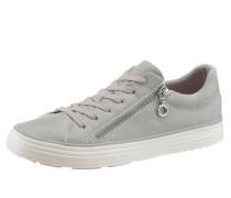 Metallic Sneaker mit Zipper grau
