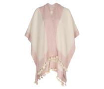 Poncho rosa / weiß