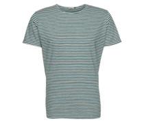 'T-Shirt' grün / weiß