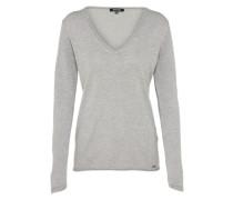 Pullover mit V-Ausschnitt graumeliert