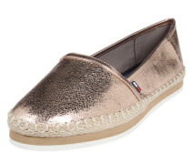 Loafer in Metallic-Optik rosegold