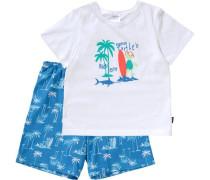 Schlafanzug für Jungen blau / weiß